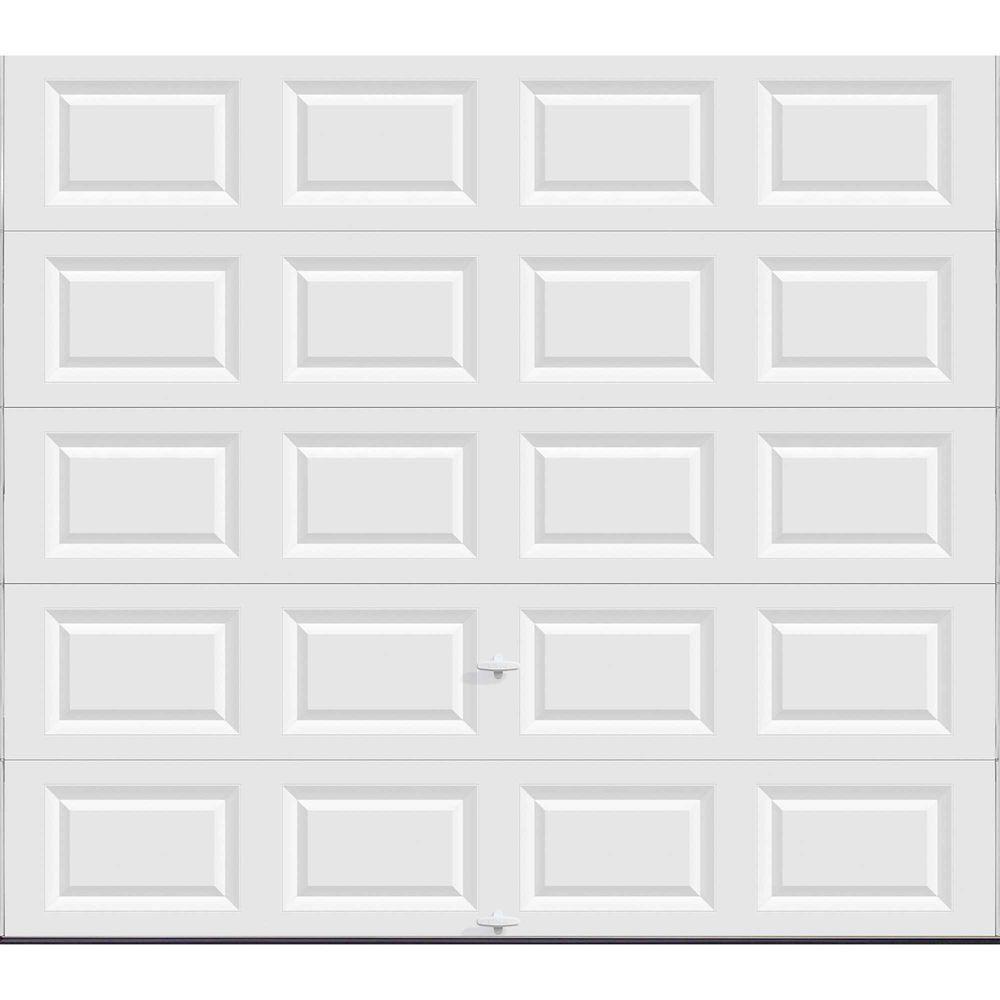 Porte de garage Série Valeur 9pi x 8pi non-isolée Blanche