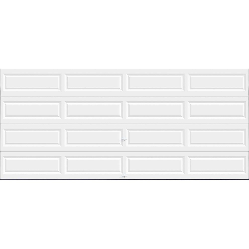 Value Series 16 ft. x 7 ft. Non-Insulated Solid White Garage Door
