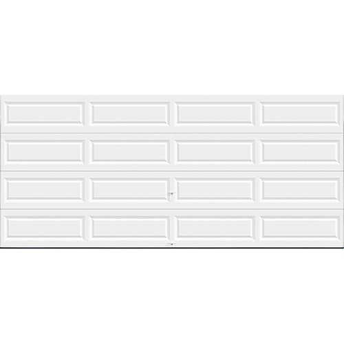 Clopay Value Series 16 ft. x 7 ft. Non-Insulated Solid White Garage Door