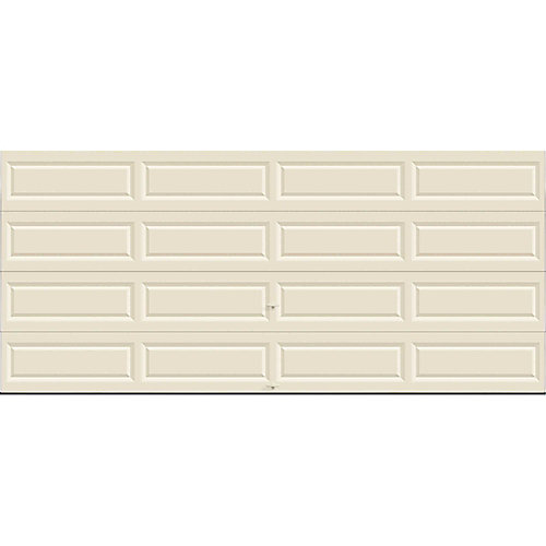 Clopay Value Series 16 Ft X 7 Ft Non Insulated Solid Almond Garage
