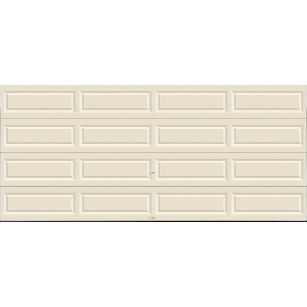 Value Series 16 ft. x 7 ft. Non-Insulated Solid Almond Garage Door
