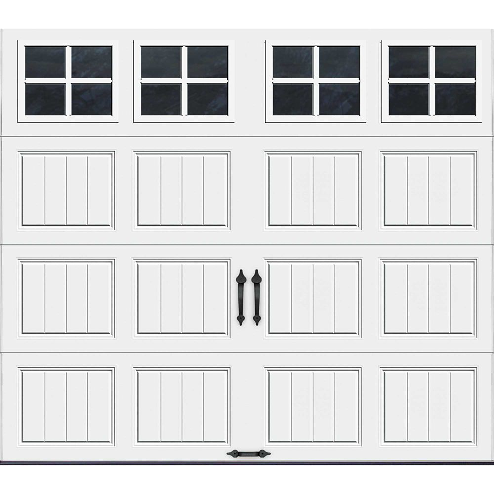 Gallery Collection 8 ft. x 7 ft. Intellicore Insulated White Garage Door with SQ22 Window