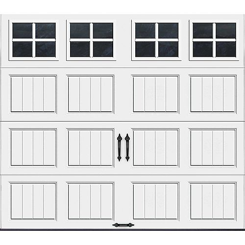Clopay Gallery Collection 8 ft. x 7 ft. Intellicore Insulated White Garage Door with SQ22 Window