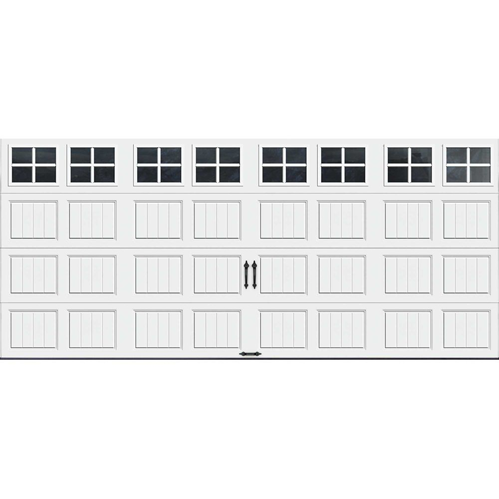 Gallery Collection 16 ft. x 7 ft. Intellicore Insulated White Garage Door with SQ22 Window