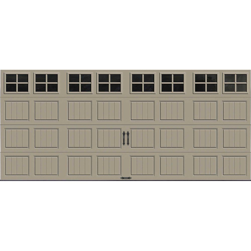 Gallery Collection 16 ft. x 7 ft. Intellicore Insulated Sandstone Garage Door with SQ22 Window