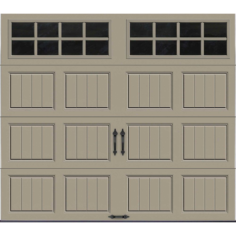Gallery Collection 8 ft. x 7 ft. Intellicore Insulated Sandstone Garage Door with SQ24 Window