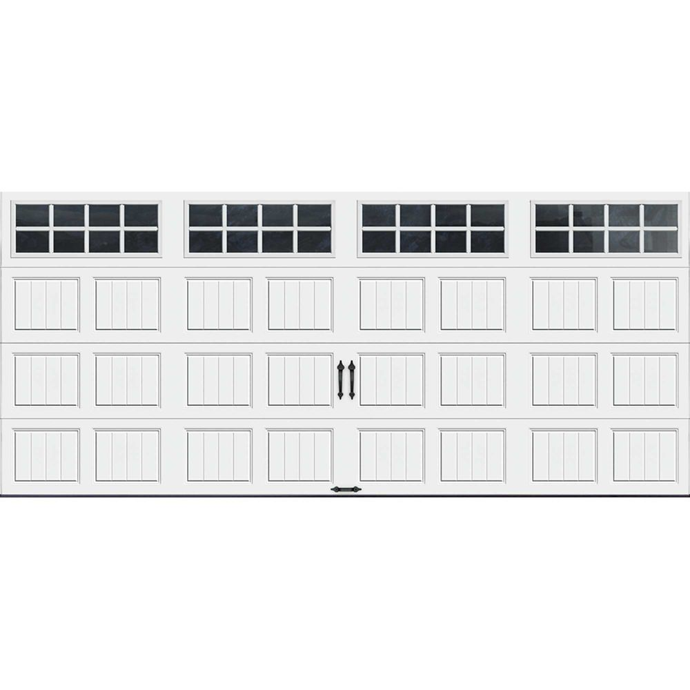 Gallery Collection 16 ft. x 7 ft. Intellicore Insulated White Garage Door with SQ24 Window