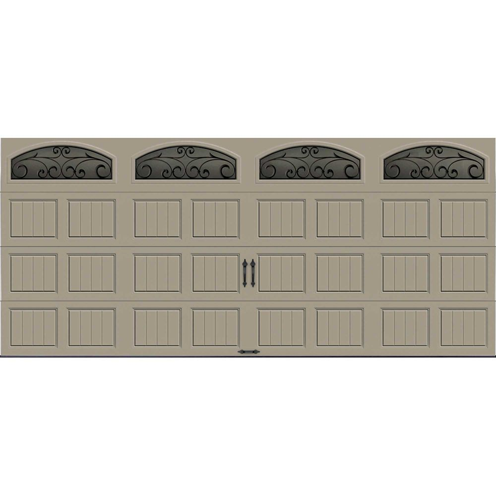 Gallery Collection 16 ft. x 7 ft. Intellicore Insulated Sandstone Garage Door with Window