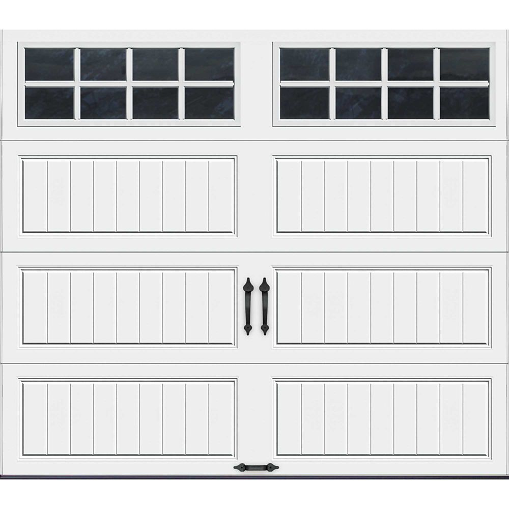 Gallery Collection 8 ft. x 7 ft. Intellicore Insulated White Garage Door with SQ24 Window