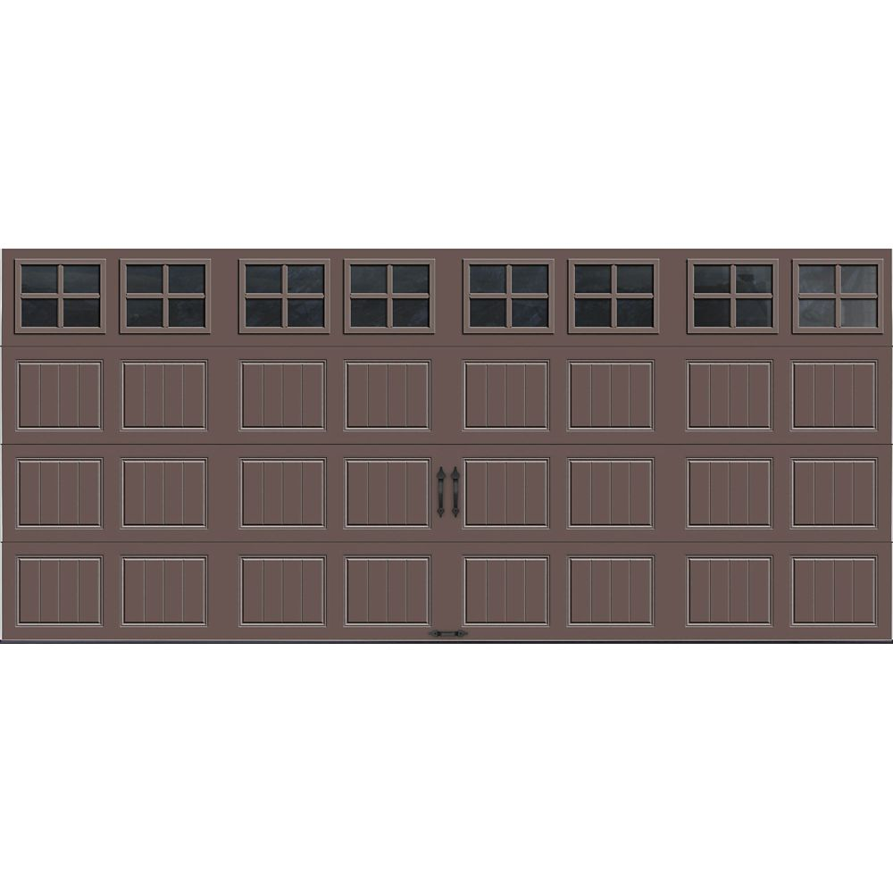 Gallery Collection 16 ft. x 7 ft. Intellicore Insulated Bronze Garage Door with SQ22 Window