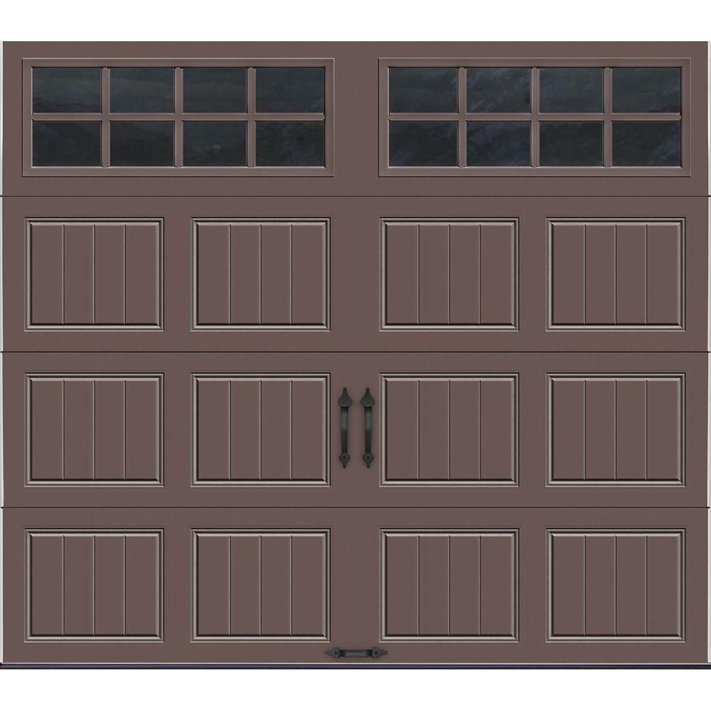 Porte de garage Collection Gallery 8 pi x 7 pi Valeur R 18.4 isolée en ployuréthane Intellicore S...