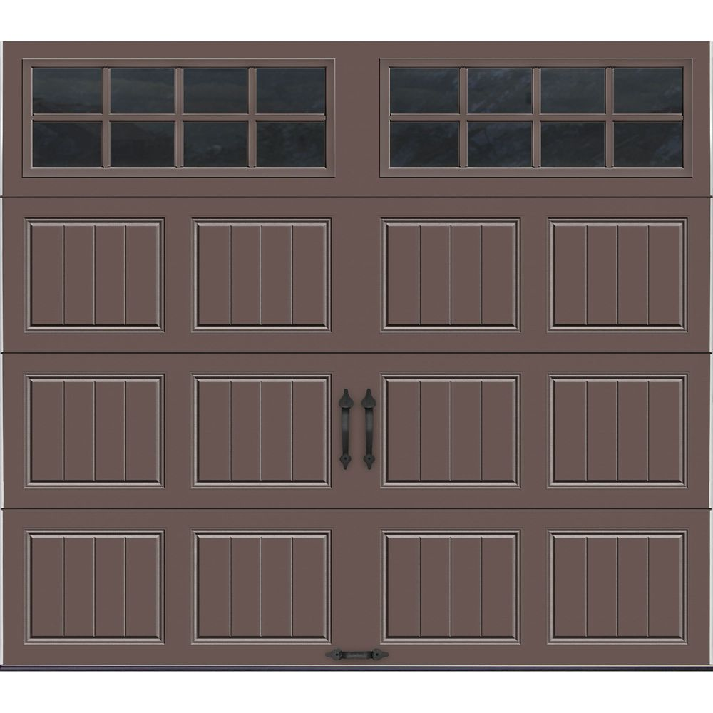 Gallery Collection 8 ft. x 7 ft. Intellicore Insulated Bronze Garage Door with SQ24 Window