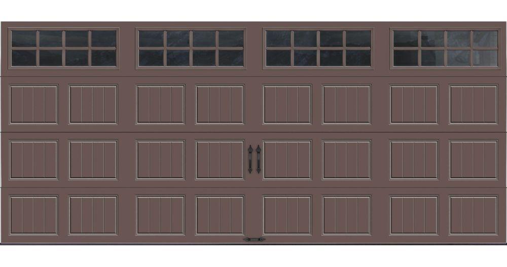 Porte de garage Collection Gallery 16 pi x 7 pi Valeur R 18.4 isolée en ployuréthane Intellicore ...
