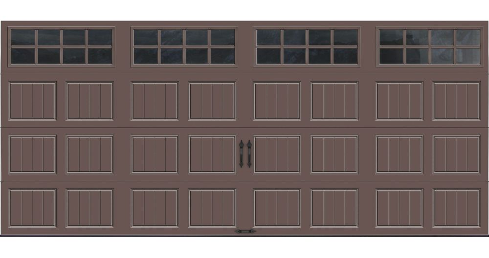 Gallery Collection 16 ft. x 7 ft. Intellicore Insulated Bronze Garage Door with SQ24 Window