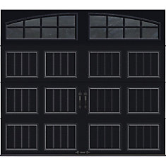 Clopay Gallery Collection 8 ft. x 7 ft. Intellicore Insulated Black on at home depot shutters, at home depot swing sets, at home depot door hardware, at home depot building materials, at home depot countertops, at home depot awnings, at home depot patio covers, at home depot gas grills, at home depot security cameras, at home depot gas fireplaces, at home depot blinds, at home depot windows, at home depot fences, at home depot flooring, at home depot light fixtures, at home depot swimming pools, at home depot siding, at home depot gas logs, at home depot handrails, at home depot gates,