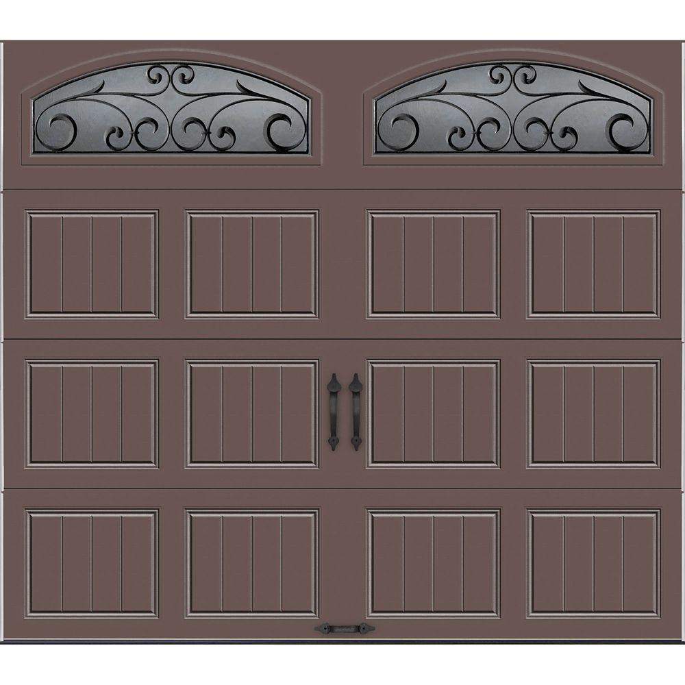 Porte de garage Collection Gallery 8 pi x 7 pi R 18.4 isolée en ployuréthane Intellicore Sable Fe...