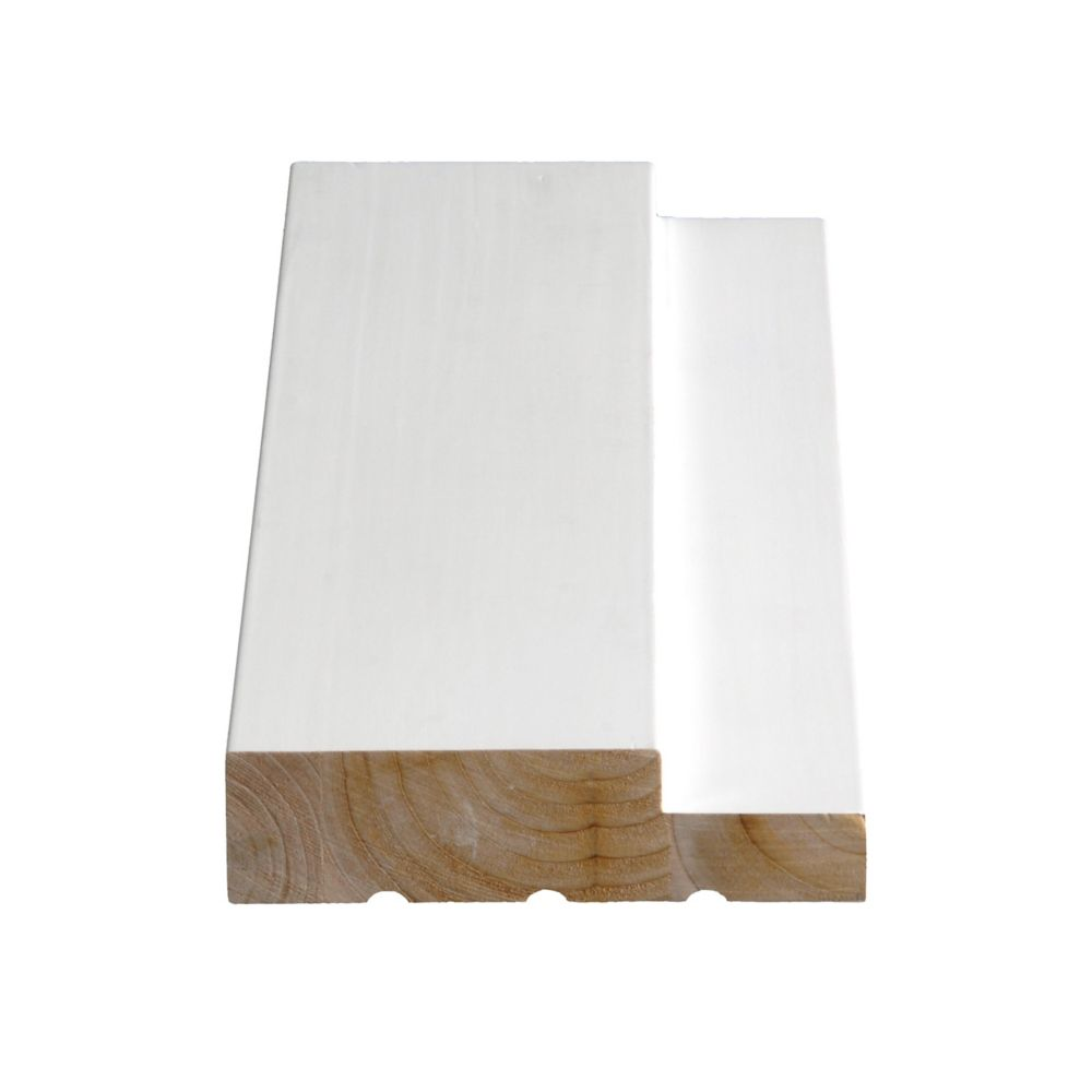 Alexandria Moulding Primed Finger Jointed Pine Pre-machined Single Door Frame Set 1-1/4 Inch x 4-9/16 Inch