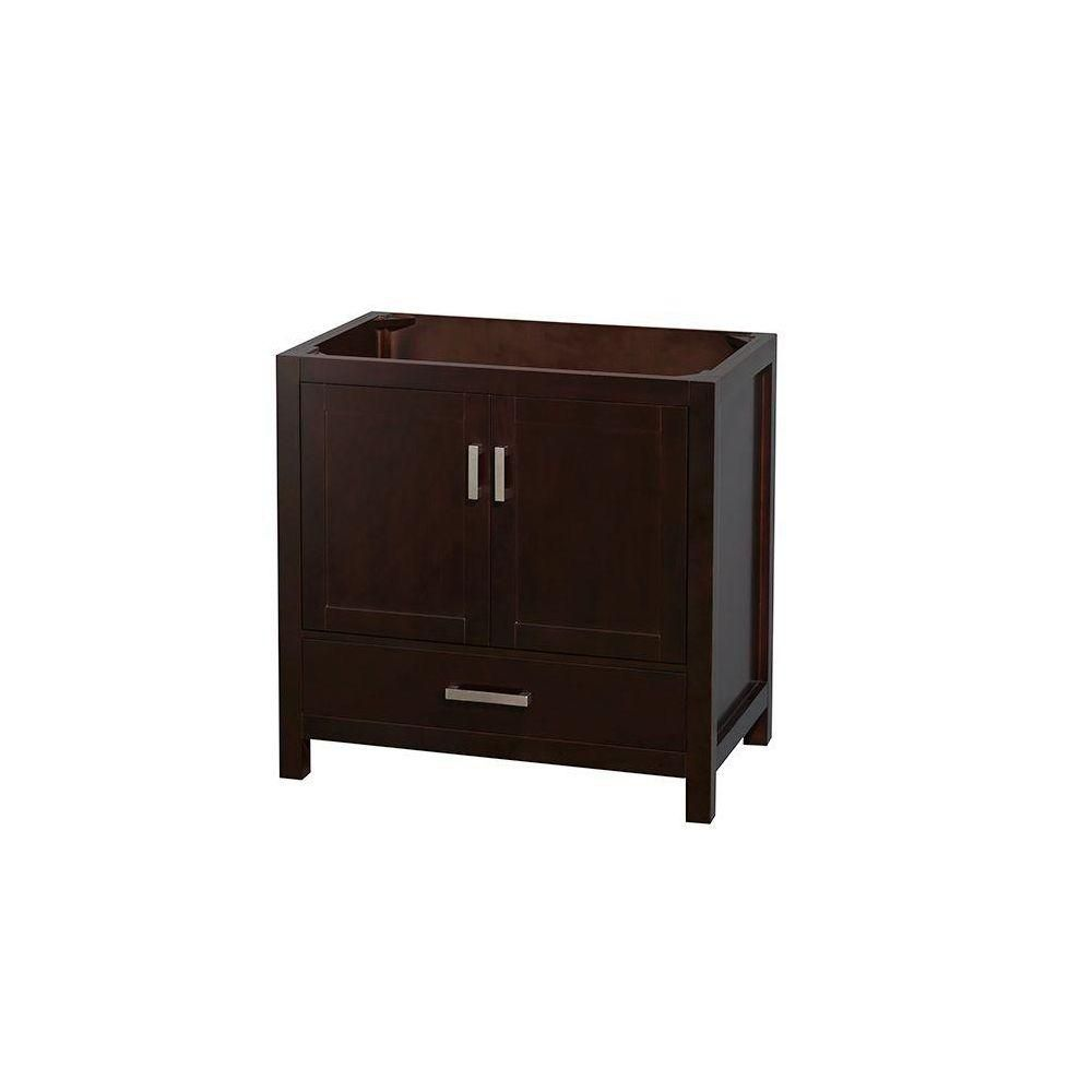 Wyndham Collection Sheffield 36-Inch  Vanity Cabinet in Espresso