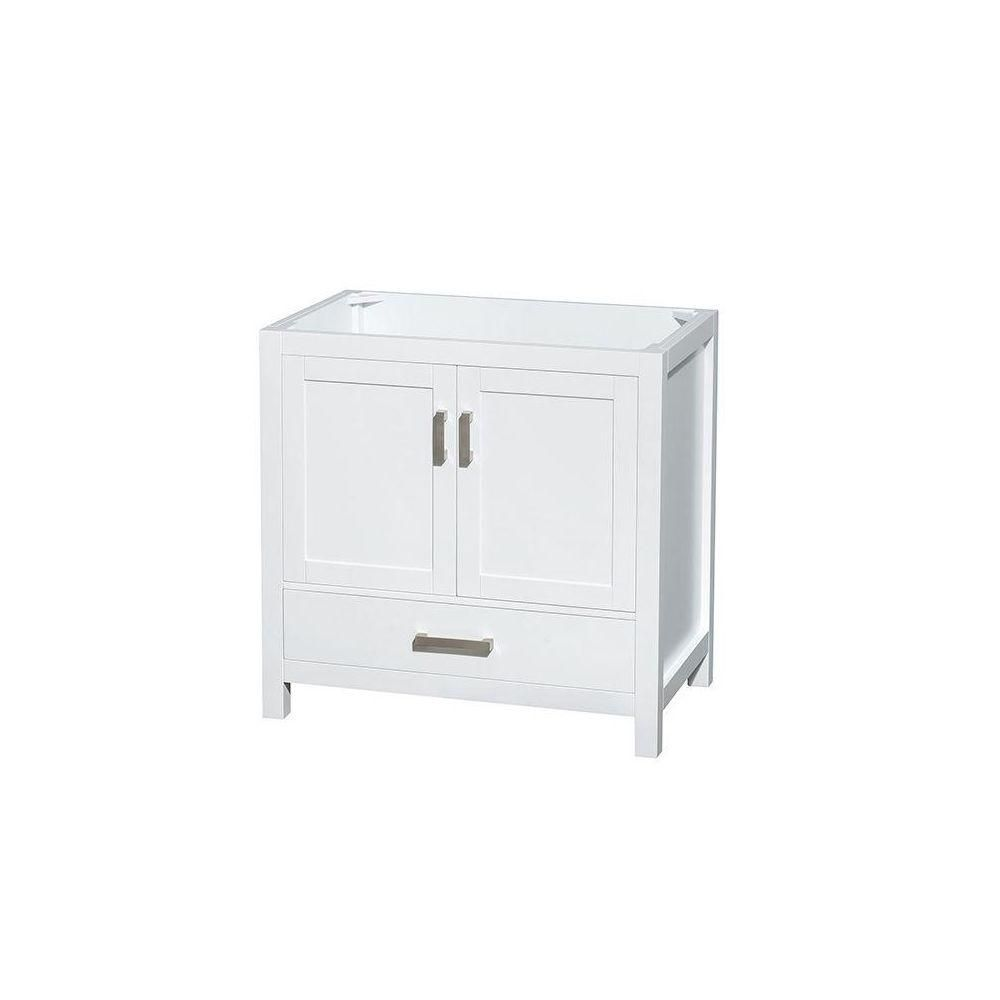 Wyndham Collection Sheffield 36-Inch  Vanity Cabinet in White