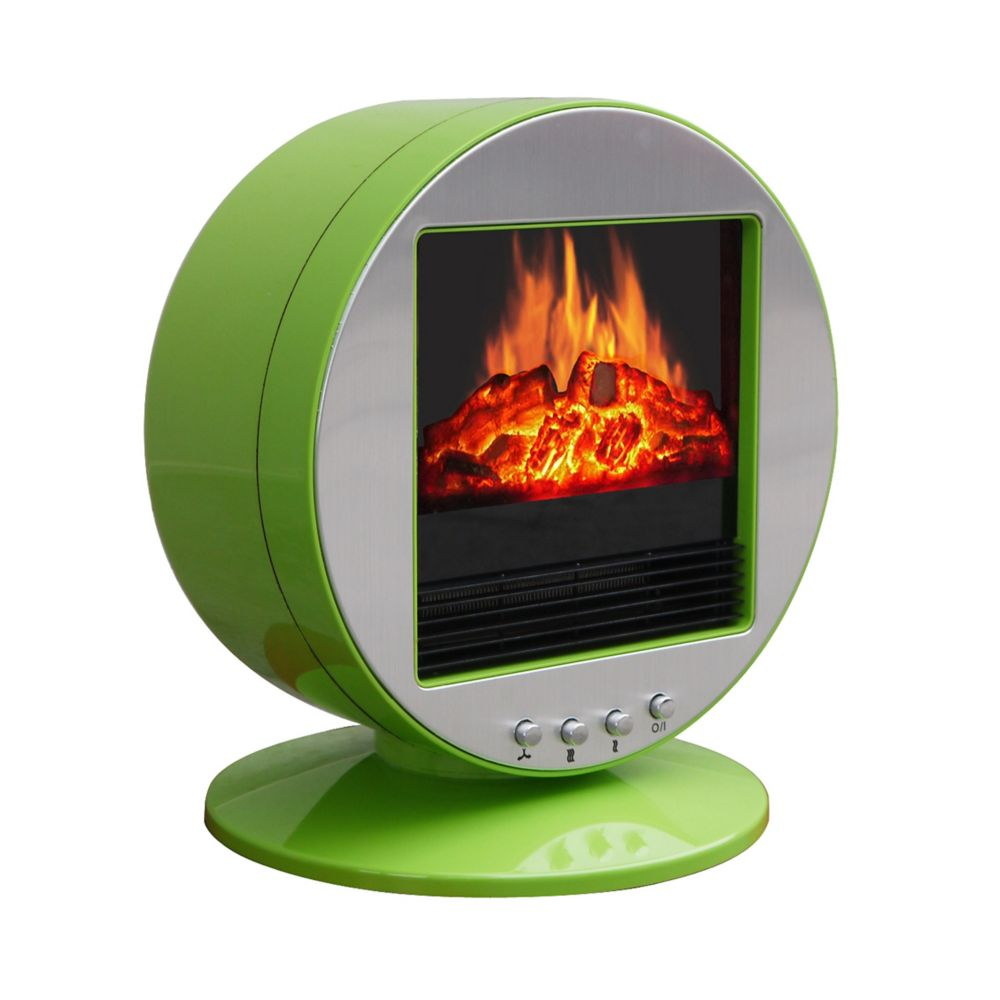 Corliving fpe 437 f desktop fireplace space heater for Green heaters for home
