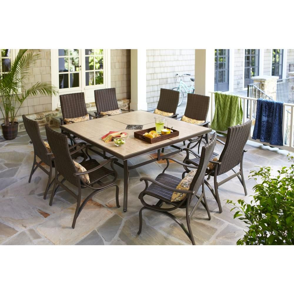 Hampton Bay Pembrey 9-Piece Patio Dining Set