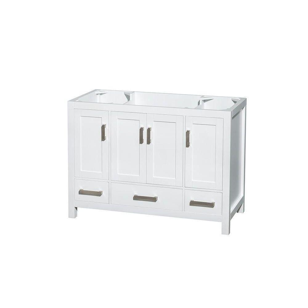 Sheffield 48-Inch  Vanity Cabinet in White