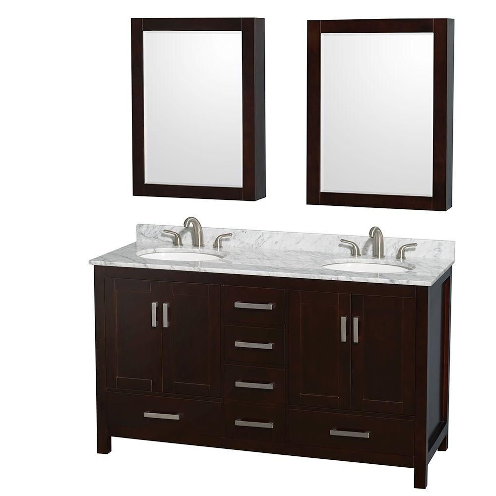 60 Inch Vanity Top : Wyndham collection sheffield inch w double vanity in