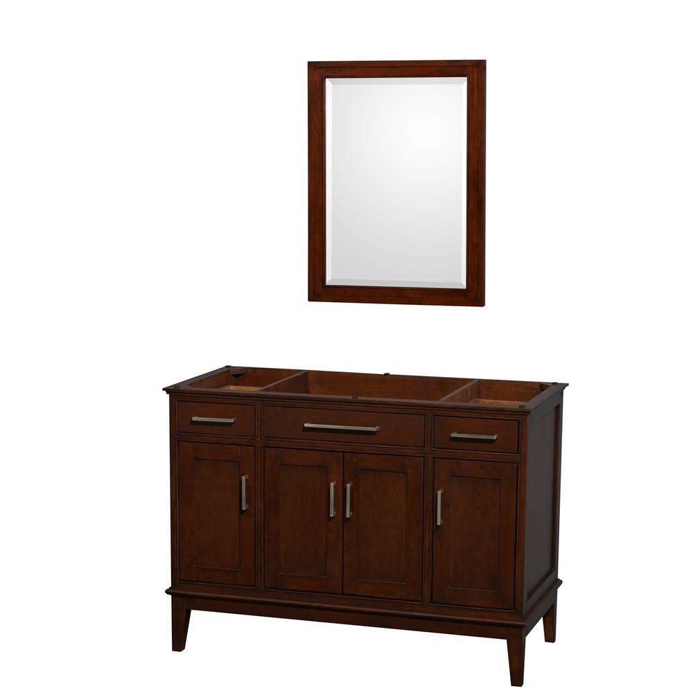 Hatton de 47 po Meuble avec miroir en châtain foncé