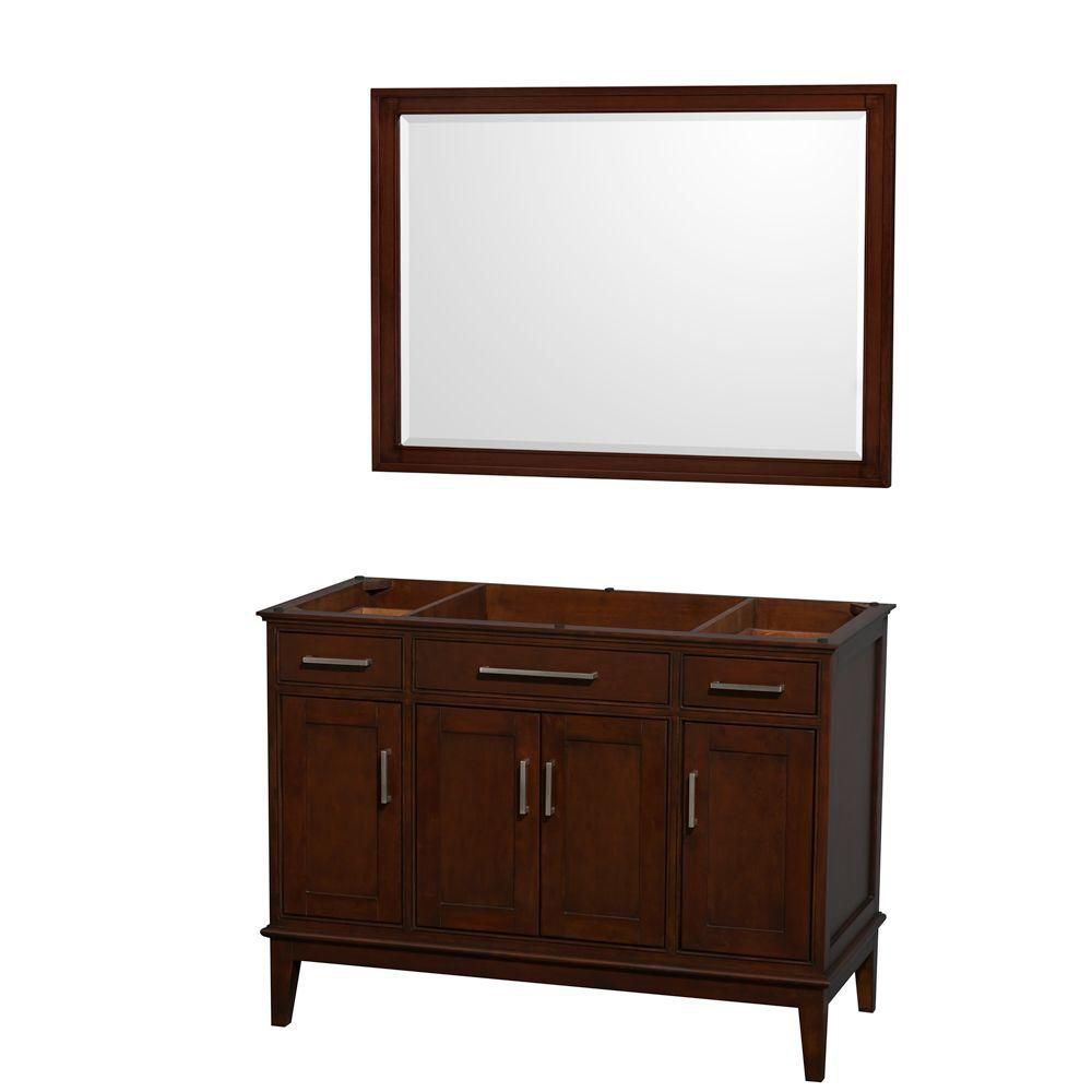 Hatton 47 In. Vanity with Mirror in Dark Chestnut WCV161648SCDCXSXXM44 in Canada
