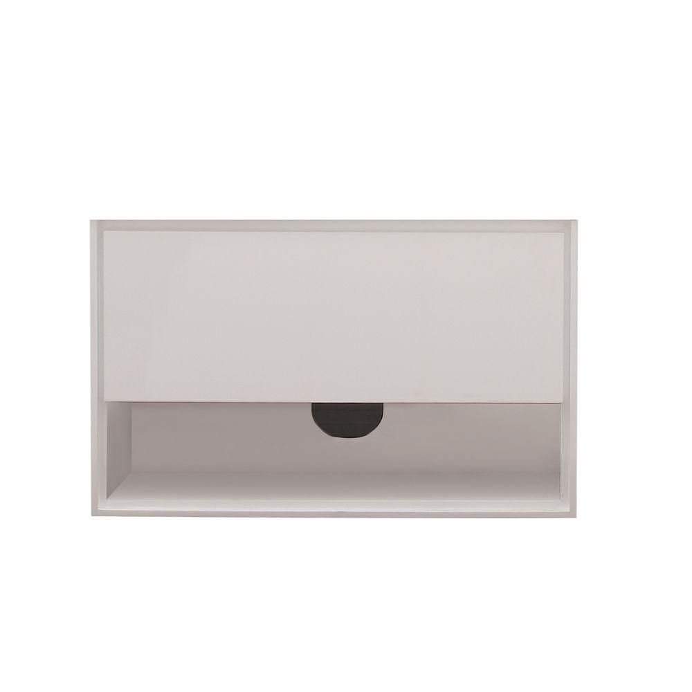 Meuble-lavabo Sonoma de 39 po au fini blanc
