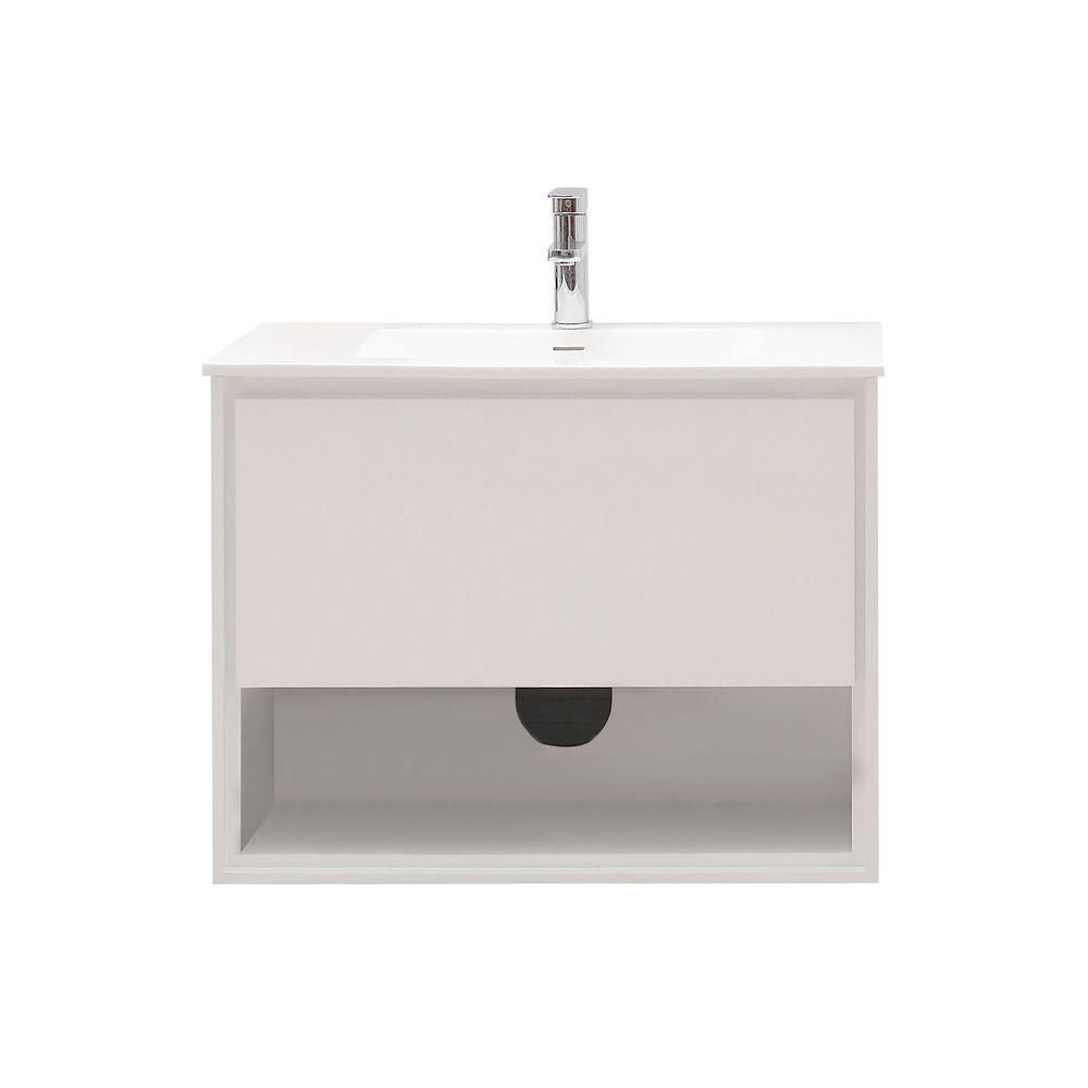 Sonoma 31-inch W Vanity in White Finish with Solid Surface in White