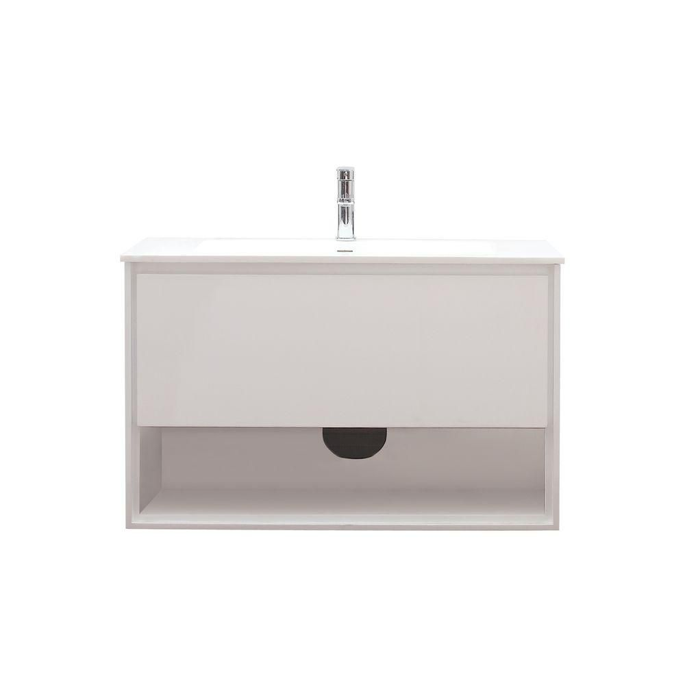 Sonoma 39-inch W Vanity in White Finish with Stone Top in White