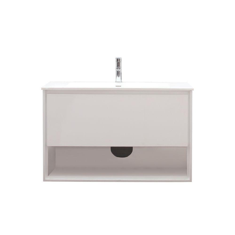 Ensemble de meuble-lavabo Sonoma de 39 po au fini blanc