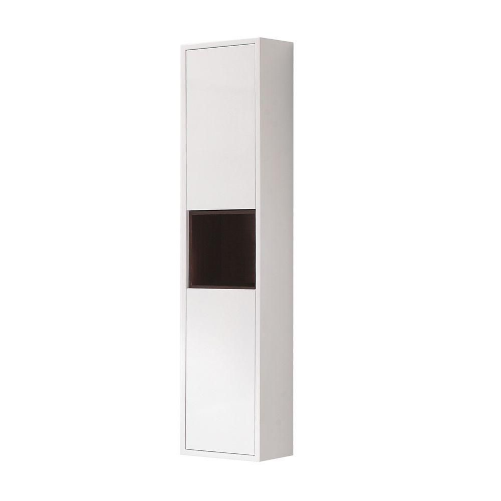 Avanity Sonoma 11-4/5-inch W x 55-1/10-inch H x 8-7/10-inch D Bathroom Storage Wall Cabinet in White