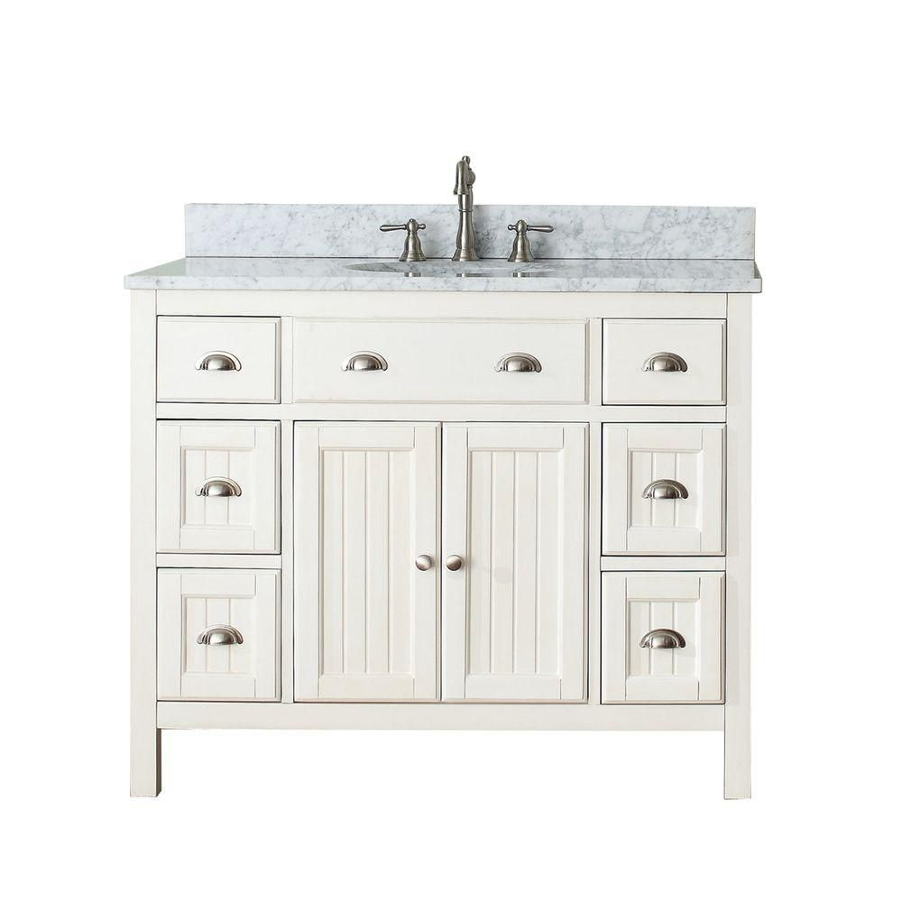 avanity hamilton 42 inch w vanity in french white with