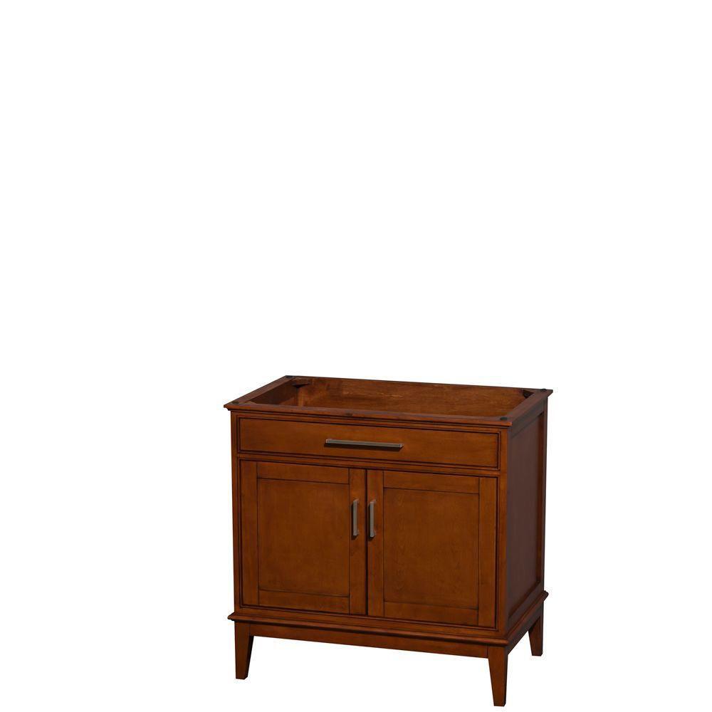 Hatton 35-Inch  Vanity Cabinet in Light Chestnut