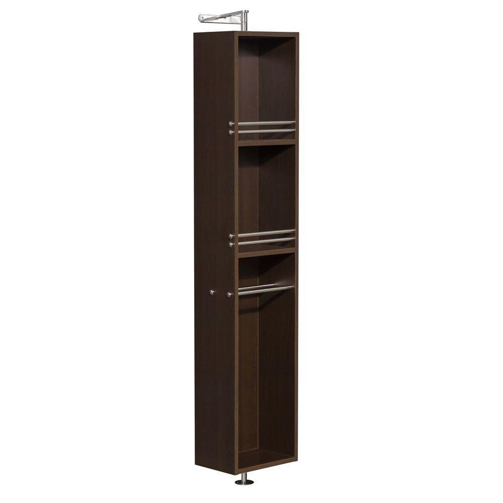 Wyndham Collection Amare 13-3/4-inch W x 73-inch H x 15-inch D Bathroom Linen Storage Cabinet in Espresso