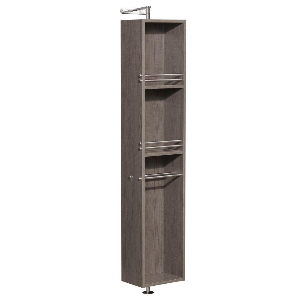 Amare 73 In. W Linen Storage Cabinet in Grey Oak