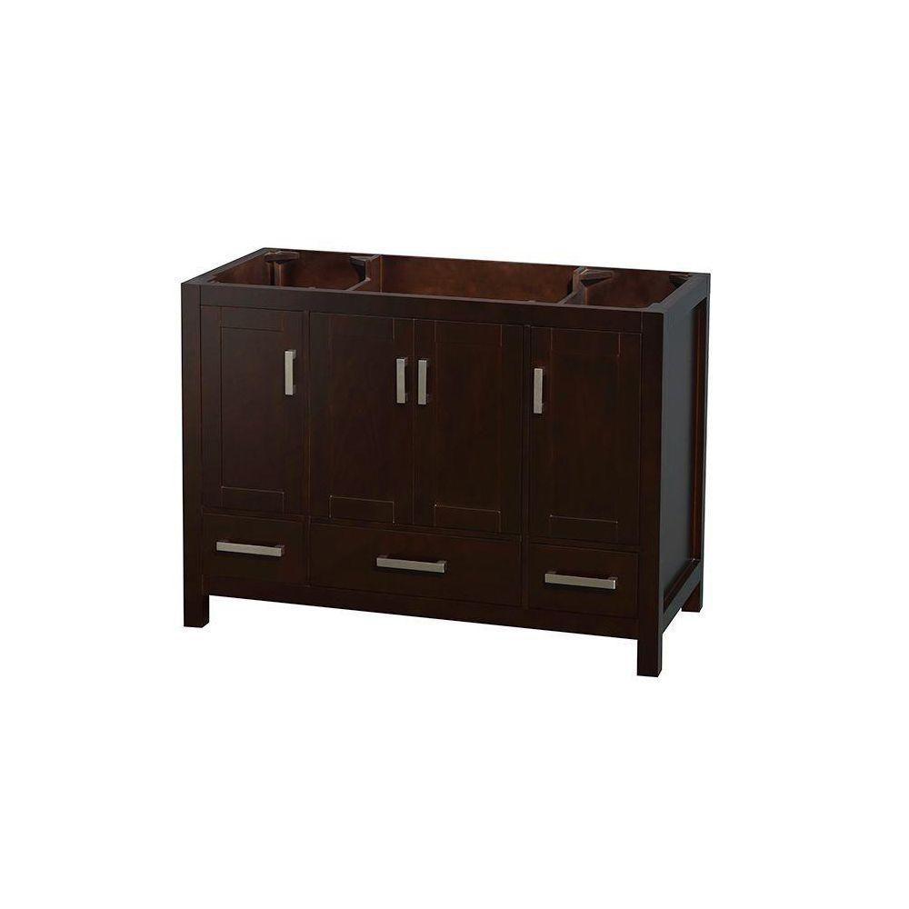Sheffield 48-Inch  Vanity Cabinet in Espresso