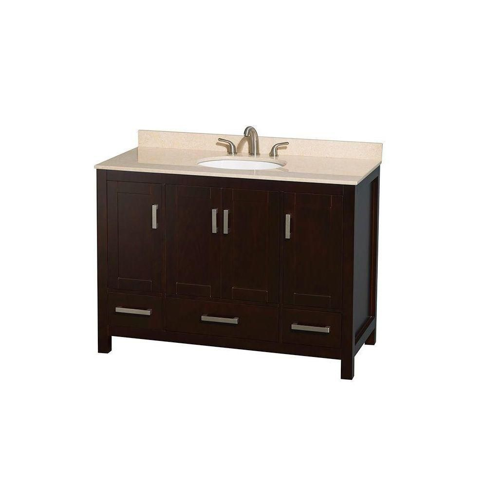 wyndham collection sheffield 48 inch w vanity in espresso with marble