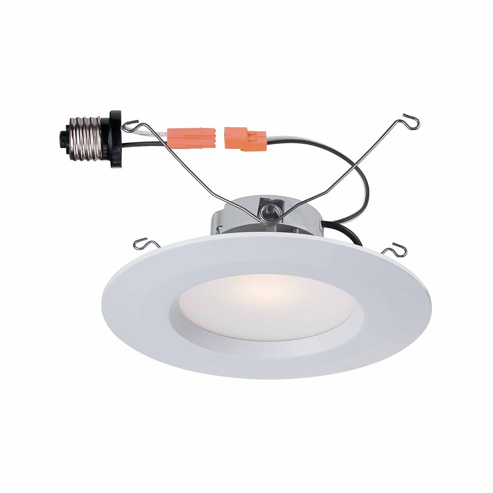 5 Inch and 6 Inch White Recessed LED Trim, 90 CRI, 2700K CER6730BWH27 in Canada