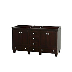 Wyndham Collection Acclaim 60-inch W 6-Drawer 4-Door Vanity in Brown