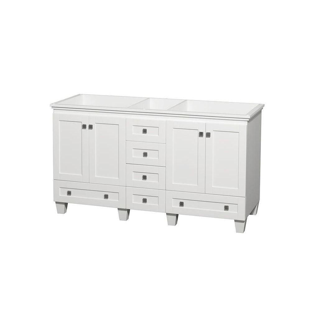Acclaim 60-Inch  Double Vanity Cabinet in White