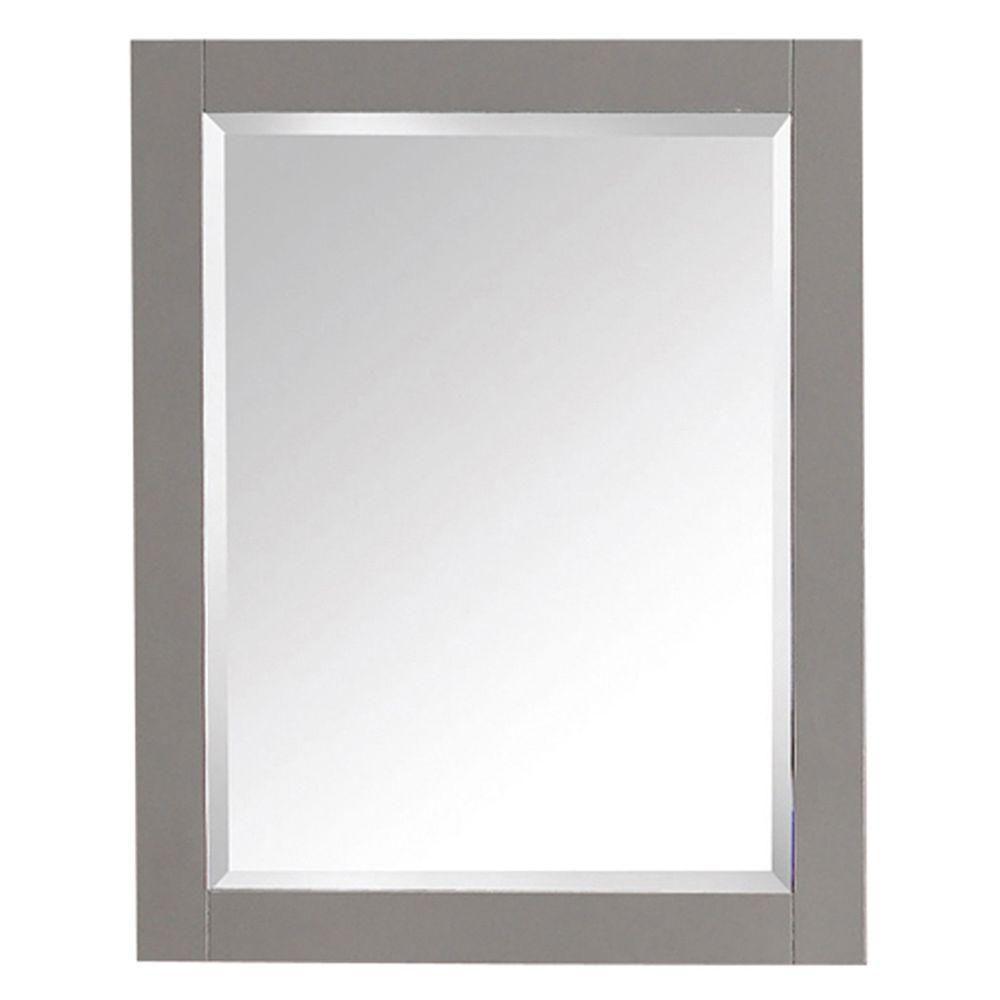 Miroir de 24 po pour gammes Brooks, Modero et Tribeca au fini gris froid
