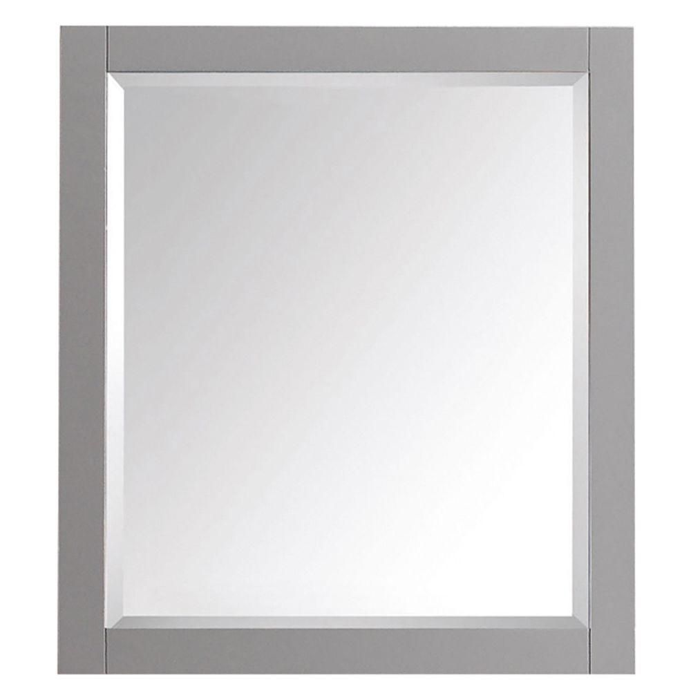 Avanity Transitional 32-inch L x 28-inch W Framed Wall Mirror in Chilled Grey