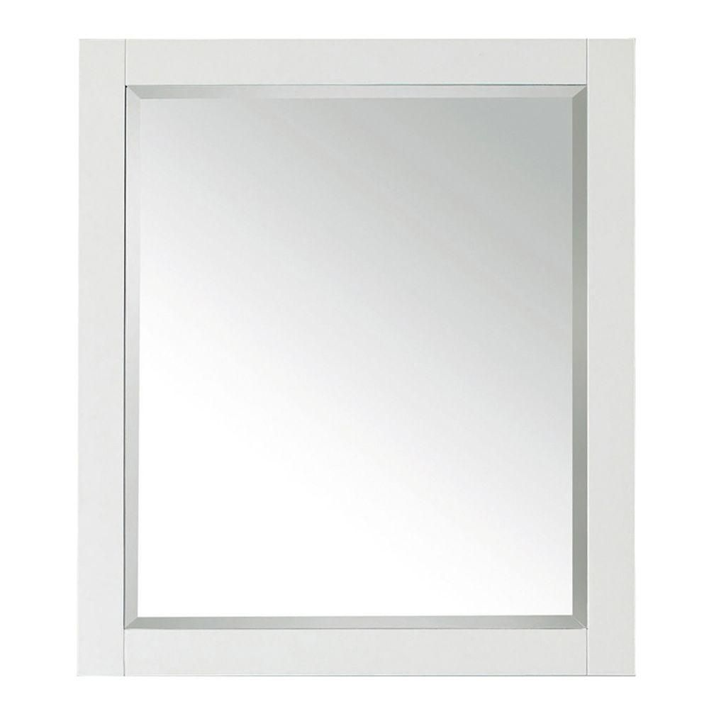 Avanity Transitional 32-inch L x 28-inch W Framed Wall Mirror in White