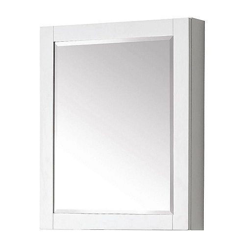 Avanity Transitional 30-inch L x 24-inch W Framed Wall Medicine Cabinet in White