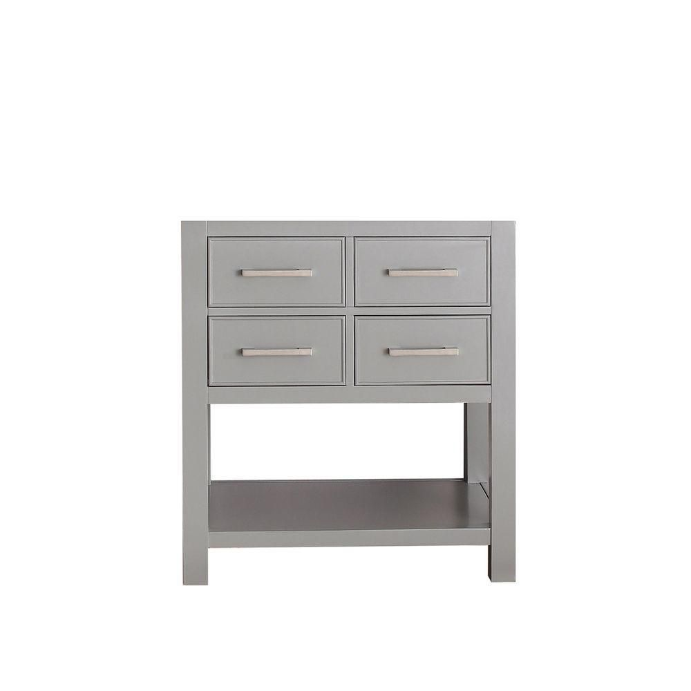 Brooks 30-Inch  Vanity Cabinet in Chilled Grey