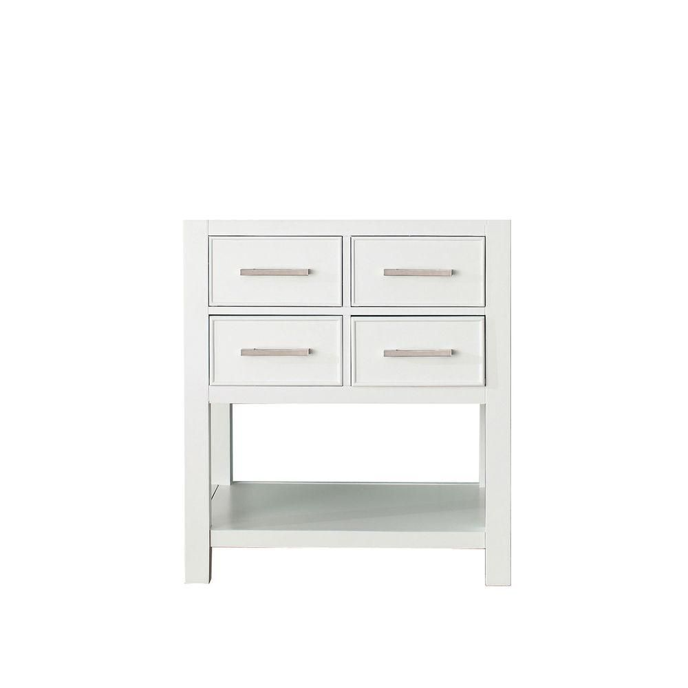 Brooks 30-inch W Vanity Cabinet in White Finish