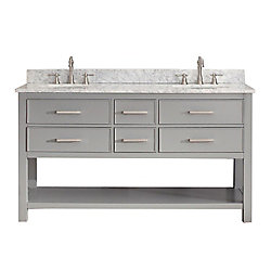Avanity Brooks 60-inch  Vanity Cabinet in Chilled Grey